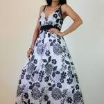 Floral Maxi Dress Black and white S..