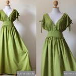 Green Maxi Dress - Sleeveless or Sh..