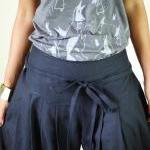 Anthracite Grey Pants - Wide Leg Pa..