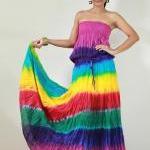 Tie Dye Dress Boho Hippie Funky Smo..