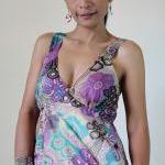 Boho Maxi Dress Cotton Bohemian Sle..