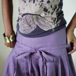 Purple Pants - Wide Leg Pants Cotto..