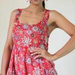 Red Maxi Dress Bohemian Sleeveless ..