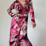 Long Sleeve Dress - Purple Print Ev..