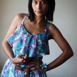 Casual Maxi Dress Floral Bohemian C..