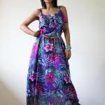 Floral Maxi Dress Bohemian Summer G..