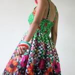 Short Dress Summer - Floral Polka D..