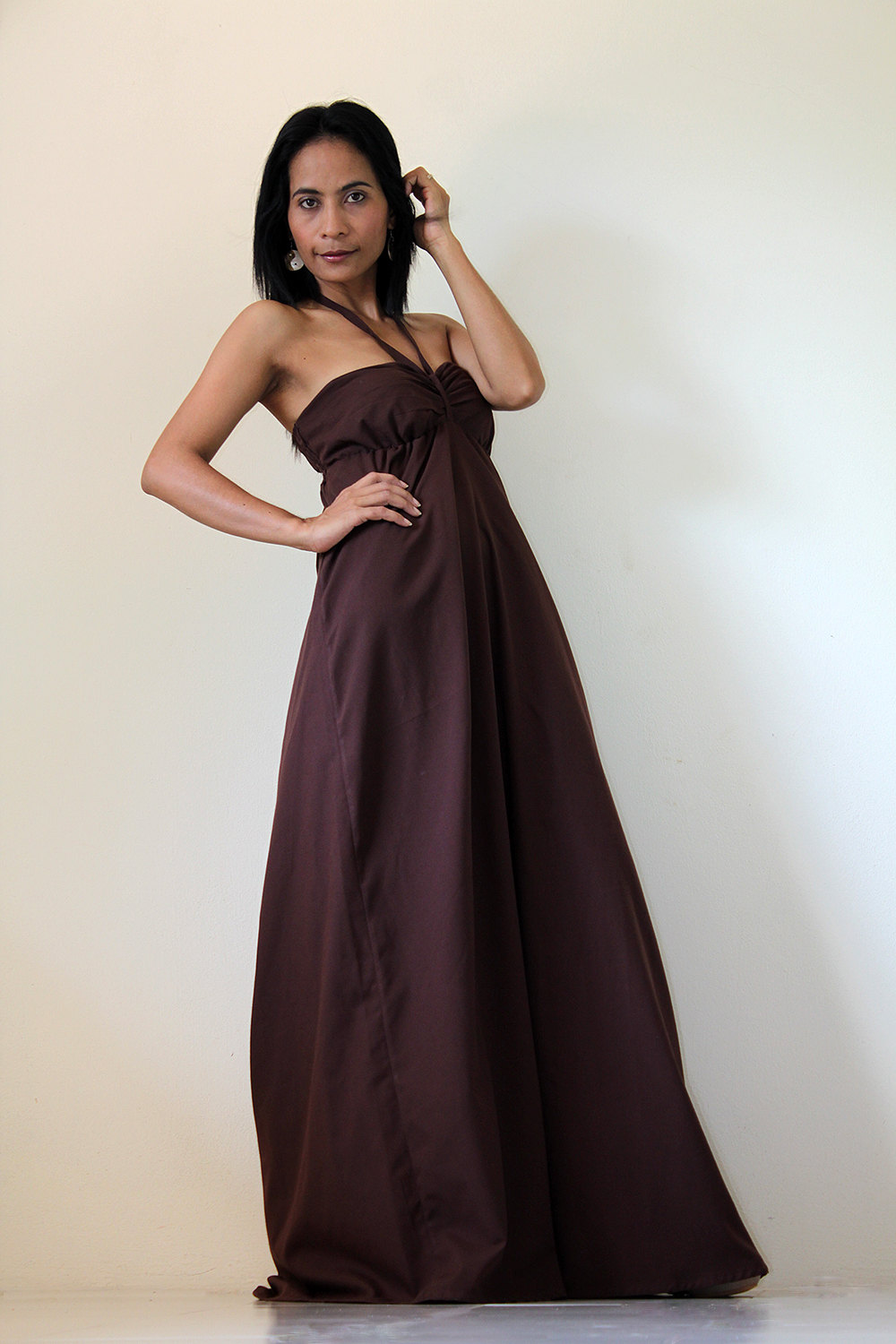21417a0381c5 Brown Maxi Dress - Sexy Strapless Long Cotton Maxi Dress   New Cutie   Sexy  Collection