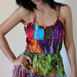 Patchwork Maxi dress Spaghetti Strap Boho Summer Dress Patchwork Flower Girl Collection II