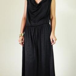 Long Black Dress Elegant Classy Evening Maxi Dress : Elegant Collection