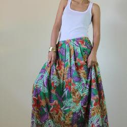 2b4dd961a4b Boho Maxi Dress Cotton Bohemian Sleeveless Long gown   Kiss of the Sun  Collection Floral Maxi Skirt   Feel Good Collection II ...