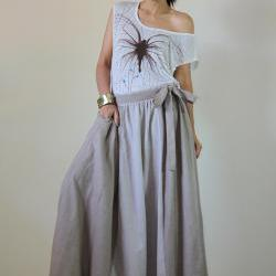 Denim Maxi Skirt : Urban Chic Collection