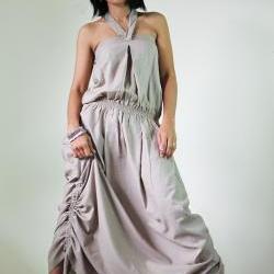 Denim Dress Cotton Stonewashed Summer Maxi Sun dress : New Morning Sunshine Collection