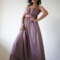 Long Maxi Dress - Flower Print Summer Dress : You Wear it Well Collection